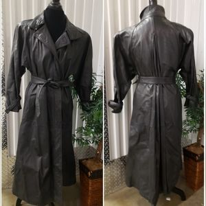 AVANTI Full length lined leather coat